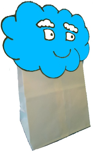 Cloud Sunday school lesson -Cloud lunch bag for treats