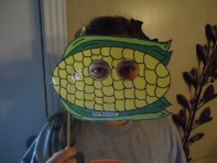 Corn Face Mask Cutout Printout