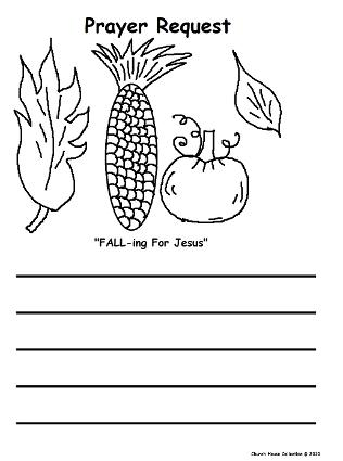 Fall Prayer Request Printable Sheet