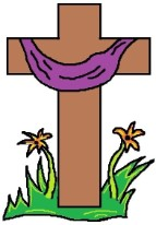 Easter Cross Glitter Graphic Gif animation Picture
