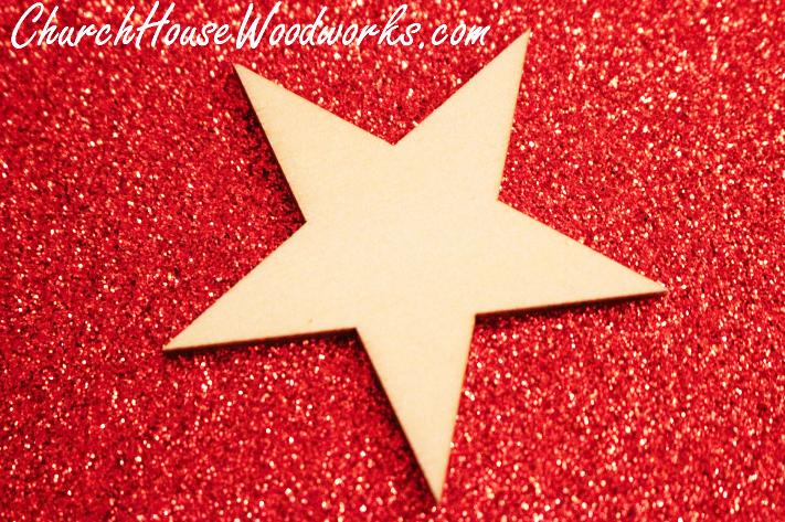 Blank Wood Star Christmas Ornaments DIY Ideas