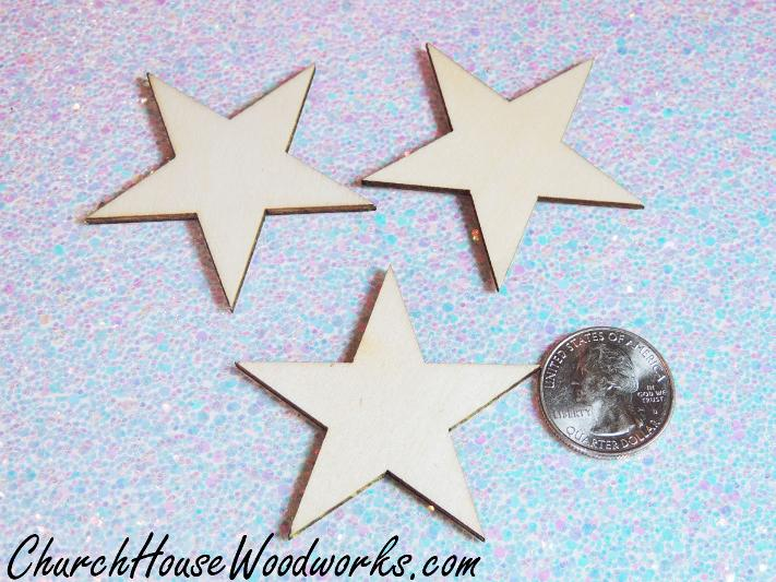 Blank Wood Star Christmas Ornaments DIY crafts Projects Wreaths
