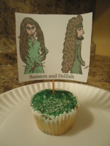 Samson and Delilah cupcakes