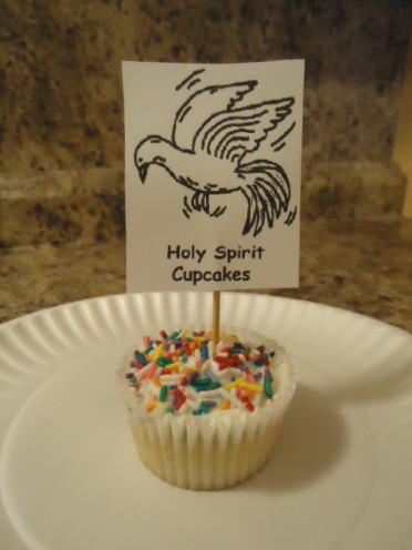 Holy Spirit Cupcakes, Bible Cupcakes