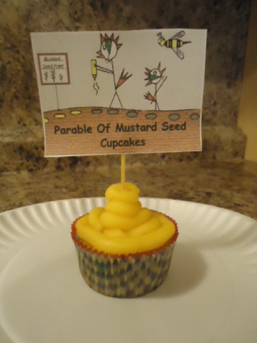 The Parable of the Mustard Seed Cupcakes, Bible Cupcakes