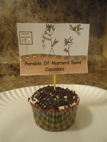 The Parable Of The Mustard Seed Cupcakes