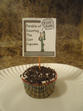 The Parable of Counting the Cost Cupcake, The Parable of the Builder Cupcake