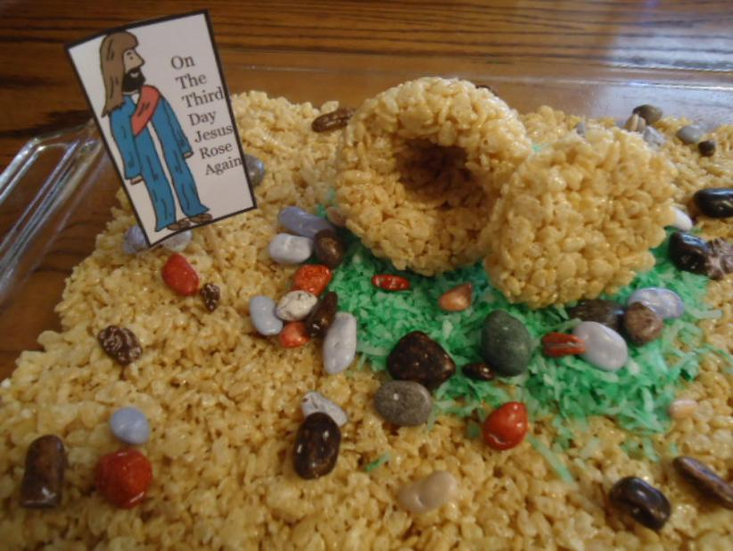 Easter Rice Krispy Tomb Cake Recipe