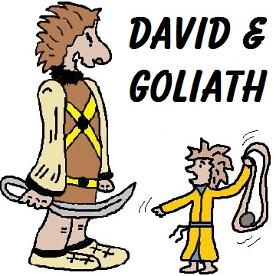 David and Goliath Clipart by Church House Collection