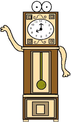 Daylight savings time clock clipart- Grandfather clock clipart