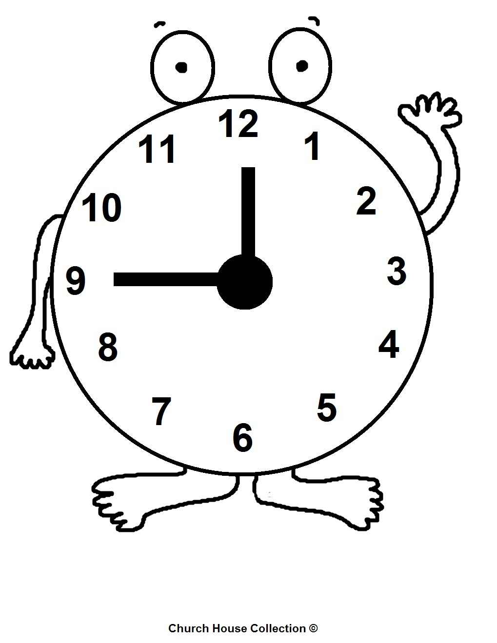 Time Clock Coloring Pages | Coloring Pages