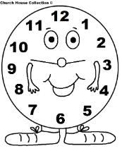 Daylight Savings Time Clock Coloring Pages for kids