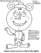 Daylight Savings Time Clock Coloring Page