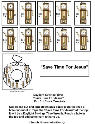 Daylight Saving Time Worksheet Lesson For Sunday School
