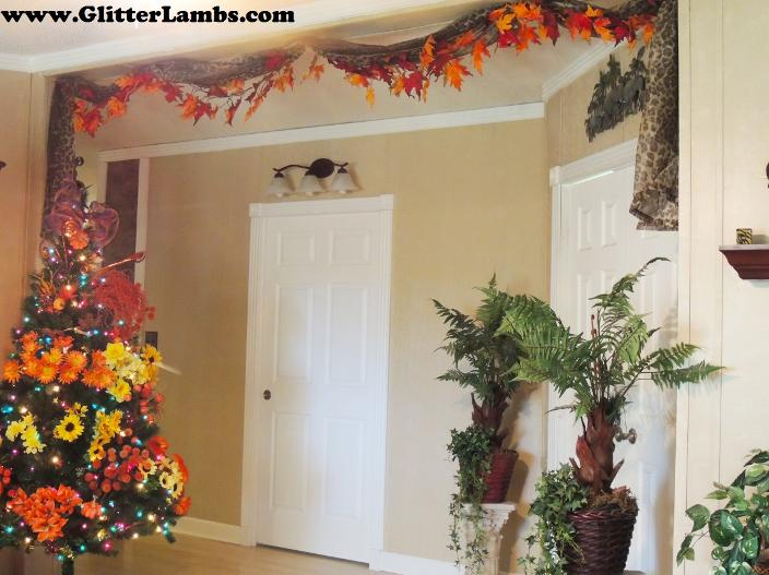 DIY Fall Shower Curtain For Your Bathroom by Church House Collection- Fall Scarecrows, Pumpkins, Orange toilet set cover and floor rug