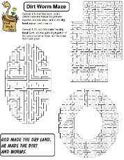 Dirt Worm Maze For Kids Sunday School