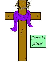 Easter Sunday School Bible Coloring Pages Free Printable of Cross With Thorns And Purple Cloth material drapped on old wooden cross. Jesus Is Alive Easter Coloring Pages Sheets by Church House Collection