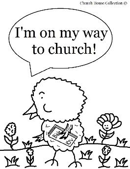 Easter chick coloring page for sunday school for Free sunday school coloring pages for easter
