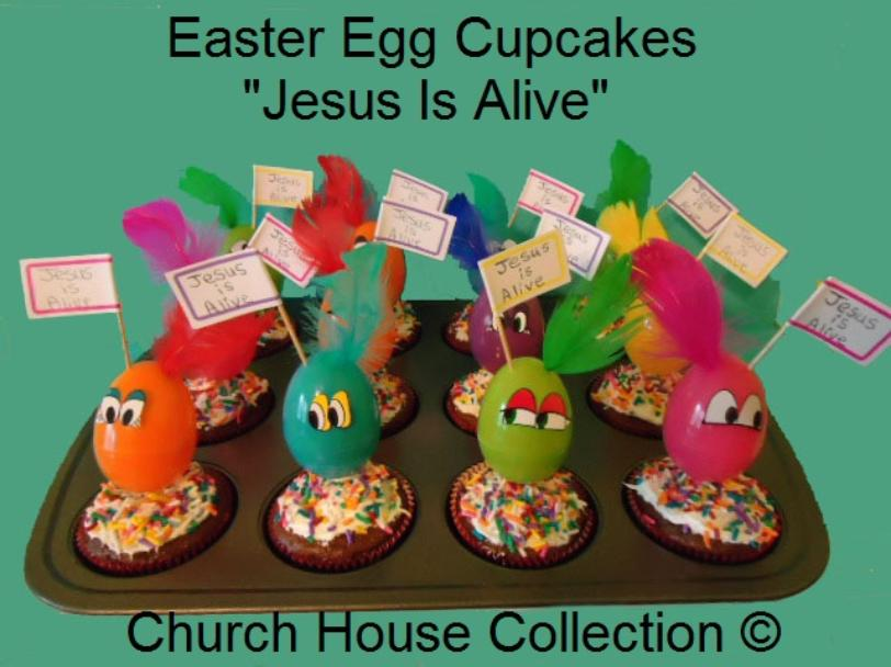 Easter Egg Cupcakes Jesus is Alive by Church House Collection