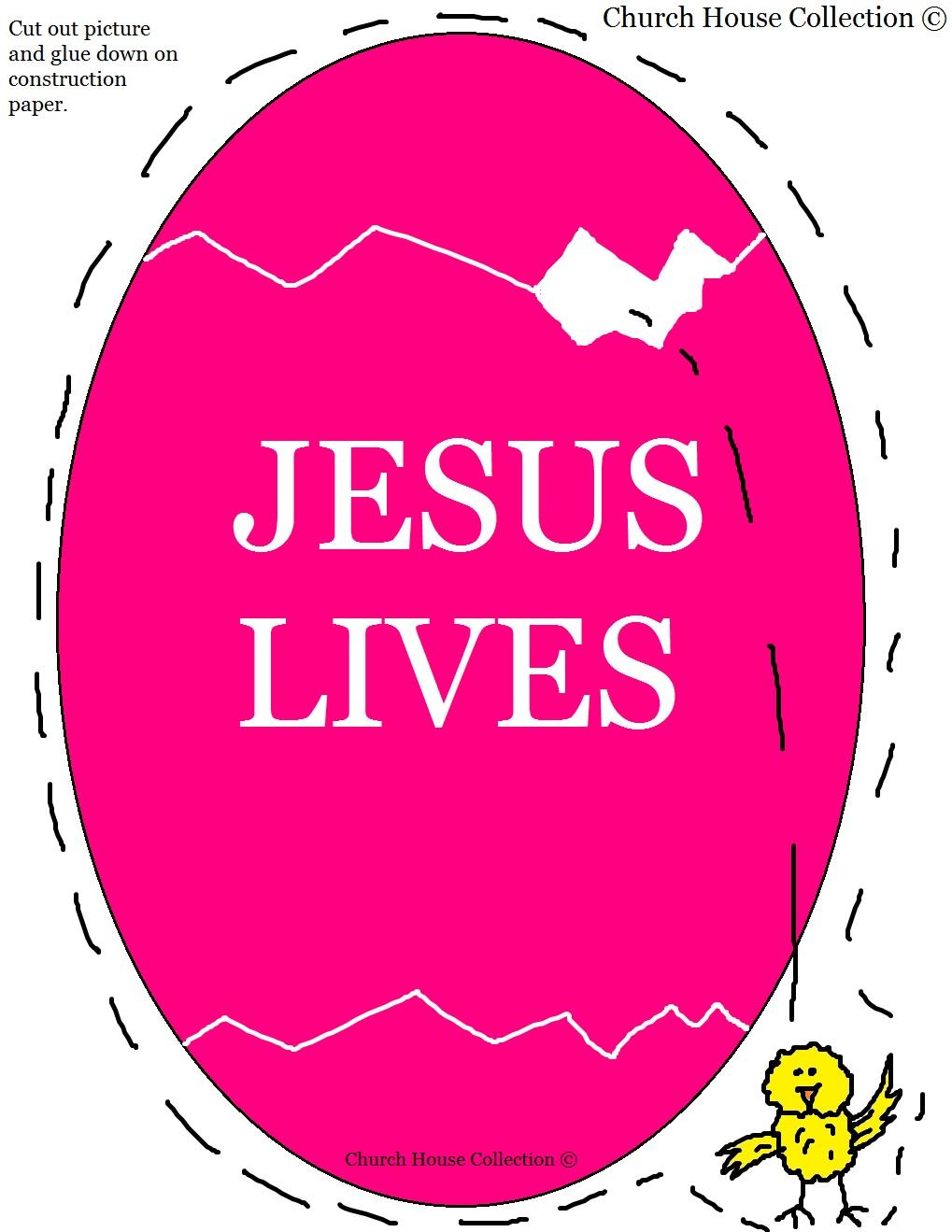 Easter egg jesus lives gift bag for kids easter egg jesus lives template printable version negle Image collections