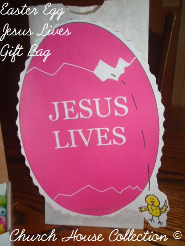 Egg jesus lives gift bag for kids easter egg jesus lives gift bag for kids negle Image collections