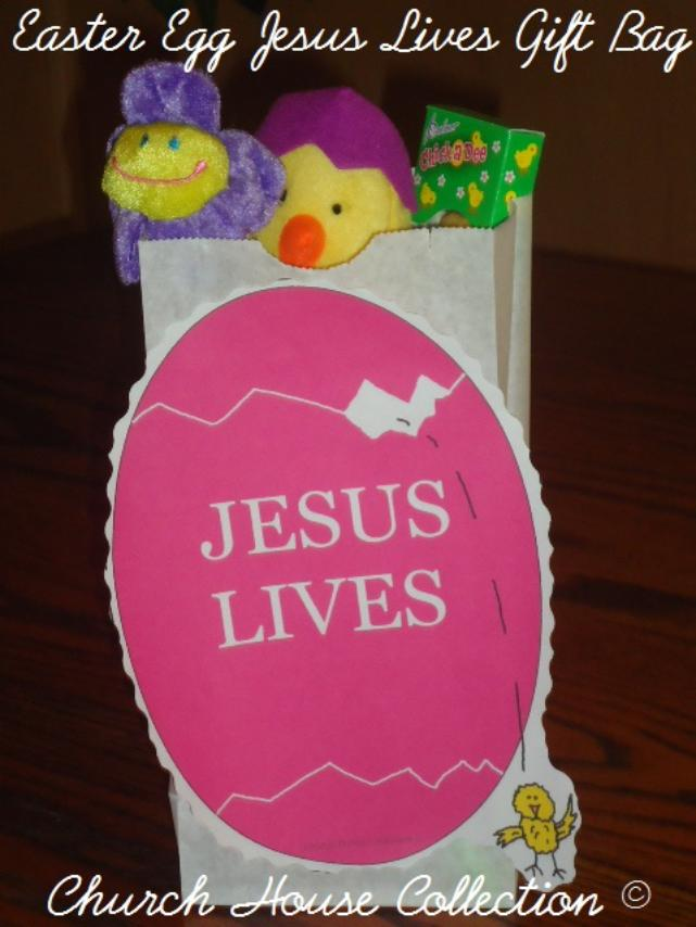 Easter egg jesus lives gift bag for kids easter egg jesus lives gift bag for kids idea by churchhousecollection jesus lives craft negle Image collections