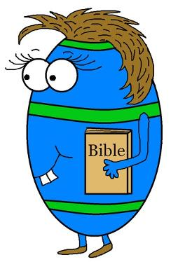 Easter Egg With Bible Clipart