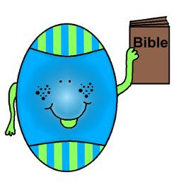 Easter Snacks by ChurchHouseCollection.com Easter Egg Holding A Bible In His Hand Cliart Cartoon Image Picture
