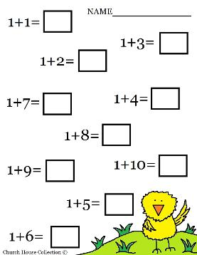 Easter Math Addition Worksheet