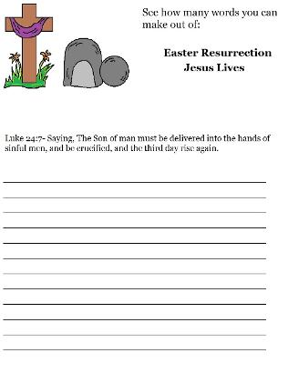 Easter Sunday school Lesson