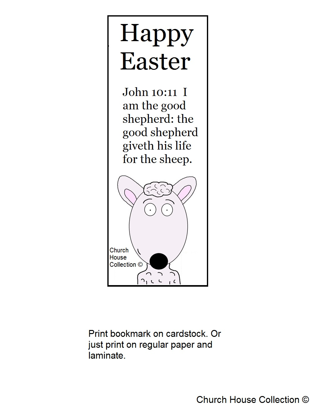 easter sheep sunday school lesson