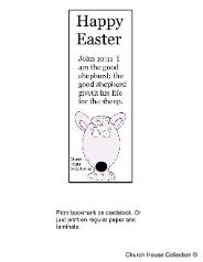 Easter sheep sunday school lesson- Easter sheep bookmark