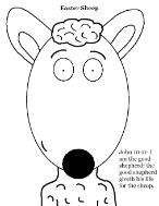 Easter Sheep Sunday school lesson- Easter sheep coloring page