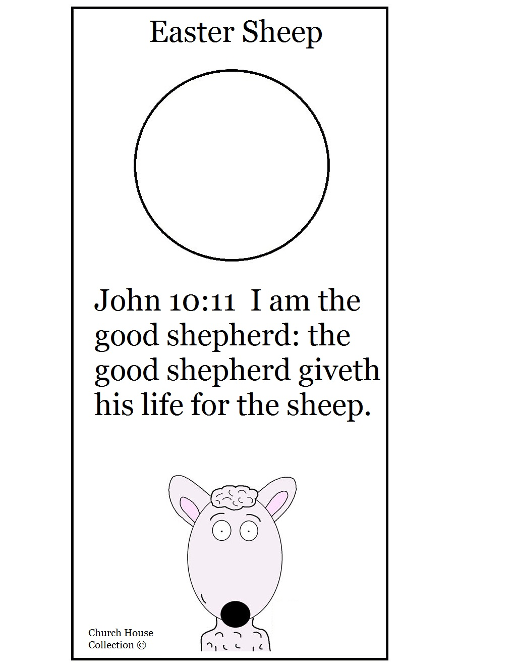 easter sheep sunday lesson