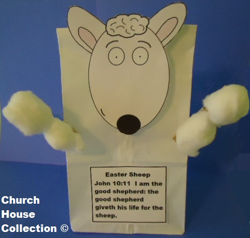 Easter Sheep Sunday school lesson- Easter sheep craft
