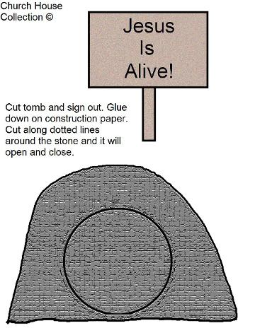 Easter Tomb Template- Easter Cutout Picture