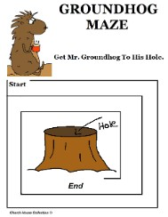 Groundhog Day Mazes For School Easy Maze