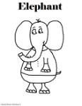 Elephant Coloring Pages- Animal Coloring Pages For Kids