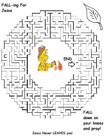 Fall Maze Falling For Jesus
