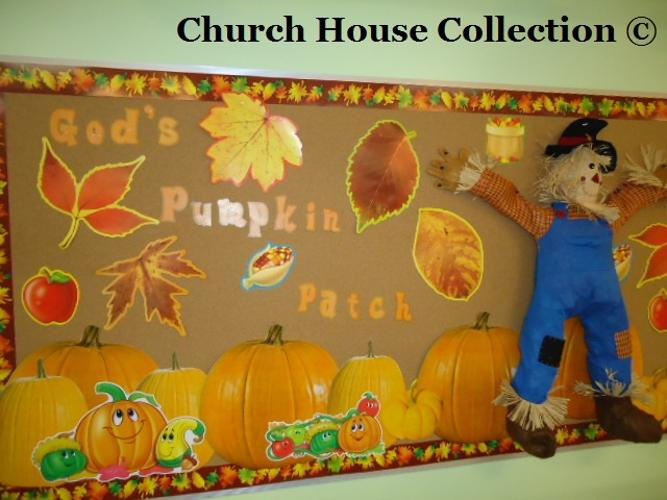 Fall Scarecrow Bulletin Board Idea God's Pumpkin Patch by Church House Collection - Fall Autumn Bullet Board Ideas For Your Classroom