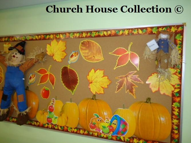 Fall Scarecrow Bulletin Board Idea For Sunday School