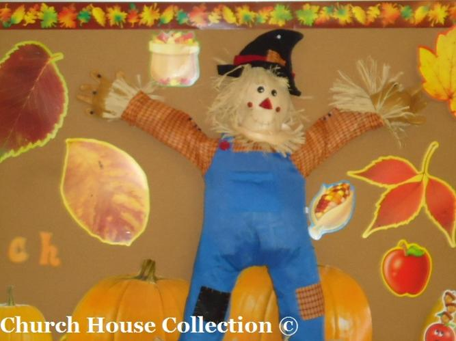 Fall Scarecrow Bulletin Board Idea God's Pumpkin Patch by Church House Collection