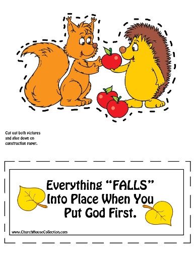 Fall Cutout Craft for Sunday School Kids by Church House Collection