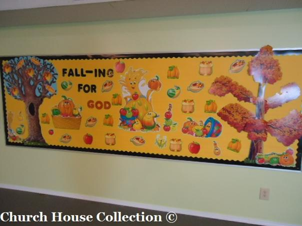 Fall Bulletin Board Ideas For Sunday School Kids Children's Church- Falling For God- Pumpkins, Fall Trees