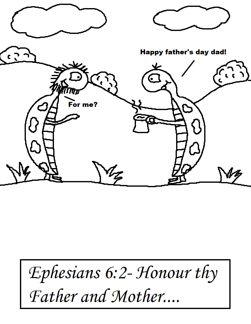 Childrens fathers day coloring pages - Father S Day Coloring Page