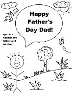 Father's Day Kid Coloring Page
