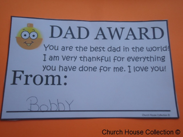 Father's Day Dad Award Printable