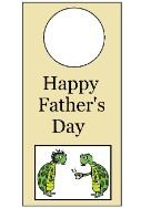 Father's Day Turtle Door Knob Hanger