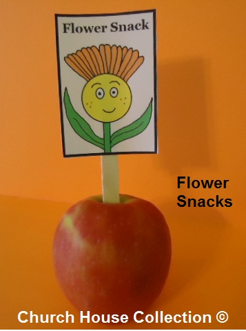 Flower Apple Snacks- Spring snacks- Snacks for children for school