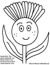 Flower Coloring Pages- Spring Coloring pages Isaiah 40:8